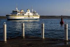 Gozo Ferry. Preparing to dock at Cirkewwa Malta Stock Image