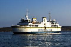 Gozo Ferry. Preparing to dock at Cirkewwa Malta Royalty Free Stock Images