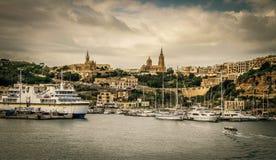Gozo fjärd Arkivfoto