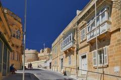 Gozo gata Arkivbilder