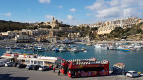 Gozo Island harbour Royalty Free Stock Images