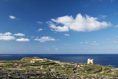 Gozo island landscape in malta. Gozo island landscape and sea in malta Royalty Free Stock Image