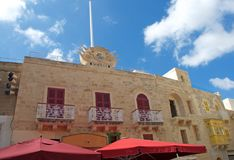 Gozo Island: Maltese architecture in downtown of Rabat, Malta. Typical, scenic Maltese architecture details in Rabat Victoria, at Gozo Island, Malta. There are Royalty Free Stock Photography