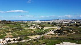 Gozo Island. Near Malta view from Victoria Fortress Stock Photo