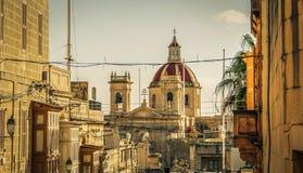 Gozo kyrka Arkivfoto