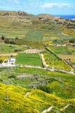 Gozo-Landschaft gesehen von der Zitadelle, Malta Stockfotografie
