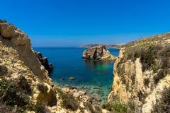Gozo Linia brzegowa Fotografia Royalty Free