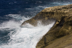 Gozo - Malta. Rough sea on the coast of Gozo - Malta in the Mediterranean Sea Stock Images