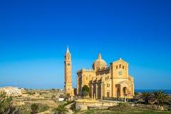 Gozo, Malta - bazylika Krajowa świątynia Błogosławiona dziewica Ta ` Pinu Zdjęcie Royalty Free