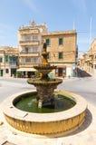 Gozo, Malta. Fountain. 2013 Gozo, Malta. Fountain in center of Victoria Royalty Free Stock Photo
