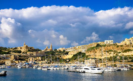 Gozo, Malta. The second island in size in Malta. Harbour view wi Royalty Free Stock Photos