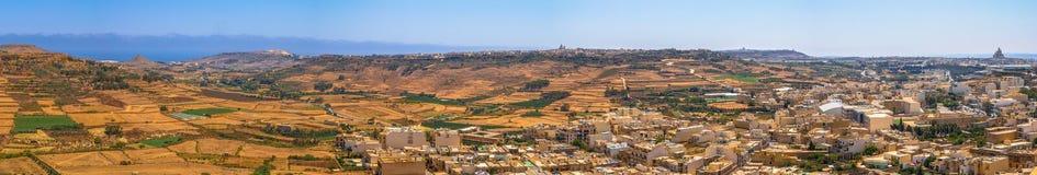 Gozo panoramisch Lizenzfreie Stockfotos