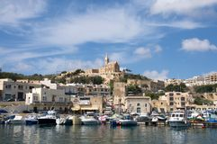 Gozo: Scenic landscape of Mgarr Harbour, Malta Royalty Free Stock Photography