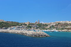 Gozo seafront Royalty Free Stock Images