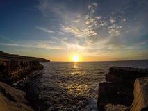 Gozo solnedgång Royaltyfria Foton