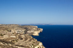 Gozo. View from Azure window, west , Malta Stock Photography