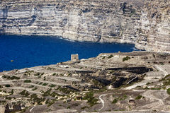 Gozo. View from Azure window, west , Malta Stock Image