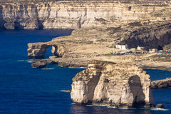 Gozo. View from Azure window, west , Malta Stock Images