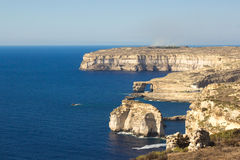 Gozo. View from Azure window, west , Malta Stock Photo