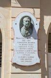 Gozo wyspa Malta, Maj, - 8, 2017: Pomnik memorize Giuseppe Farrugia obraz royalty free