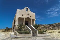 Gozo wyspy, Malta kaplica święty Anne w Dwejra obraz stock