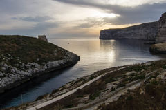 Gozo Xlendi Bay. View over Xlendi Bay on Gozo island Stock Photo