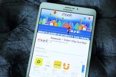 Gozocabs miasta inter taxi app Zdjęcia Royalty Free