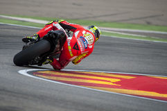 GP阿拉贡MOTO GP Andrea Iannone 库存照片