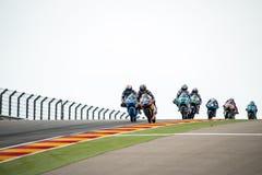 GP阿拉贡MOTO GP Moto 3 免版税库存照片