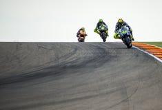 GP阿拉贡MOTO GP Valentino Rossi 免版税库存照片