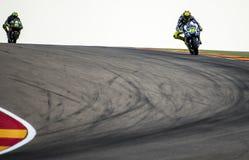 GP阿拉贡MOTO GP Valentino Rossi 图库摄影
