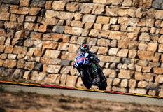 GP ΑΡΑΓΟΝΙΑ MOTO GP Jorge Lorenzo Στοκ Φωτογραφία