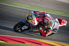 GP ARAGON MOTO GP. MOTO 3 RIDER NICCOLO ANTONELLI Royalty Free Stock Photo