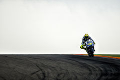 GP ARAGON MOTO GP. VALENTINO ROSSI Royalty Free Stock Photos