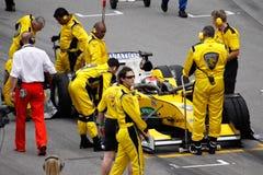 GP auto die van Maleisië A1 van het team voor het begin voorbereidingen treft stock foto's