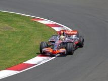 GP britânico de Vodafone Mclaren MP4-22 Lewis Hamilton fotos de stock royalty free