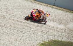 GP CATALUNYA MOTO GP 2015 -  MARC MARQUEZ CRASH Royalty Free Stock Images