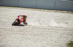 GP CATALUNYA MOTO GP 2015 -  MARC MARQUEZ CRASH Royalty Free Stock Image