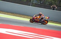 GP CATALUNYA MOTO GP 2015 -  MARC MARQUEZ CRASH Stock Images