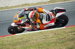 GP CATALUNYA MOTO GP 2015 -  MOTO 2 LORENZO BALDASSARRI Royalty Free Stock Photography