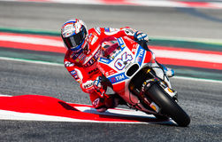 GP CATALUNYA MOTOGP. ANDREA DOVIZIOSO. DUCATI TEAM. Andrea Dovizioso. Ducati Team. Grand Prix Monster Energy of Catalunya of MotoGP. Barcelona, Spain, 10th June Stock Photography