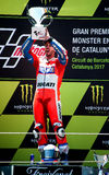 GP CATALUNYA MOTOGP. ANDREA DOVIZIOSO. DUCATI TEAM. Andrea Dovizioso. Ducati Team. Grand Prix Monster Energy of Catalunya of MotoGP. Barcelona, Spain, 11th June Royalty Free Stock Photography