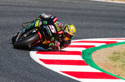 GP CATALUNYA MOTOGP. JOHANN ZARCO. TEAM MONSTER YAMAHA TECH 3 Royalty Free Stock Photo