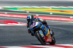 GP CATALUNYA MOTOGP. MOTO 2 RIDER ALEX MARQUEZ. BARCELONA, SPAIN  JUNE 11, 2017: Alex Marquez of Moto 2 during GP Monster Energy of Catalunya of MotoGP at Royalty Free Stock Photos