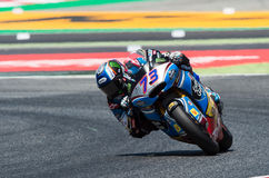 GP CATALUNYA MOTOGP. MOTO 2 RIDER ALEX MARQUEZ. BARCELONA, SPAIN  JUNE 11, 2017: Alex Marquez of Moto 2 during GP Monster Energy of Catalunya of MotoGP at Royalty Free Stock Images