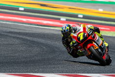 GP CATALUNYA MOTOGP. MOTO 2 RIDER LORENZO BALDASSARRI. BARCELONA, SPAIN  JUNE 11, 2017: Lorenzo Baldassarri of Moto 2 during GP Monster Energy of Catalunya of Stock Images