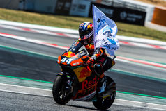 GP CATALUNYA MOTOGP. MOTO 2 RIDER MIGUEL OLIVEIRA. BARCELONA, SPAIN  JUNE 11, 2017: Miguel Oliveira of Moto 2 during GP Monster Energy of Catalunya of MotoGP at Royalty Free Stock Image