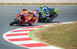 GP CATALUNYA MOTOGP - VALENTINO ROSSI AND MARC MARQUEZ Stock Photos