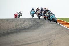 GP DEL GP ARAGÓN MOTO Moto 3 Fotos de archivo libres de regalías