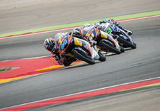 GP DEL GP ARAGÓN MOTO Moto 3 Miguel Oliveira Fotografía de archivo libre de regalías